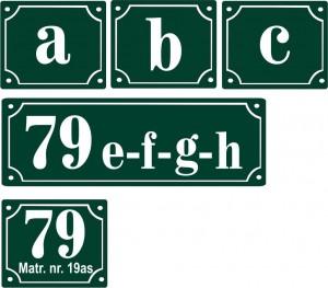 Emaljeskilte husnummer