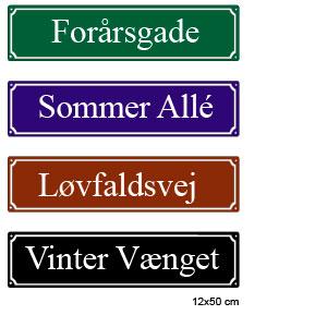 Gadenavneskilte fra Bro's Skilte