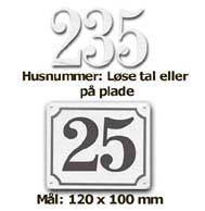 Husnummer i aluminium fra Bro's Skilte
