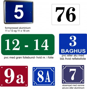 Husnummer skilt - Bros Skilte