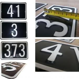 Formperesset husnummerskilte - Bros Skilte