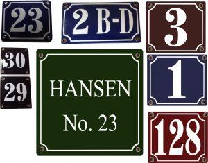 Eksempel opsæthusnummerskilte - Bros Skilte