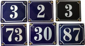 Husnummerskilte i emalje - Bros Skilte